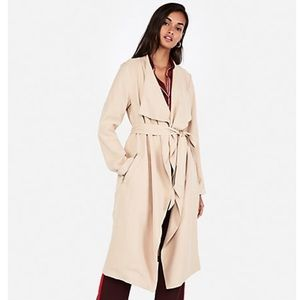 NWT Express Zip Pocket Soft Trench Coat